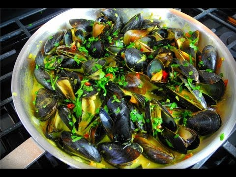 Coconut Curry Mussels Done The Caribbean Way.