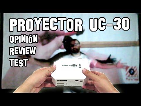 Proyector Barato de LED UC30 Opinión. Review y Test