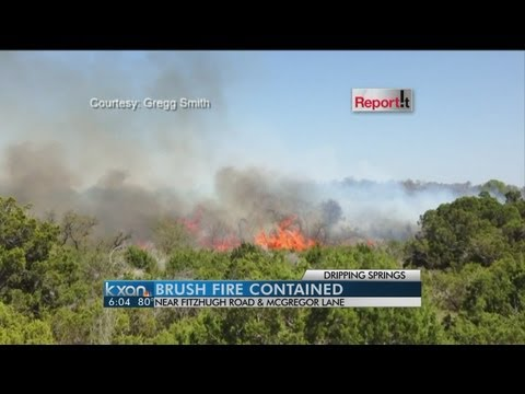 Hays Co brush Fire