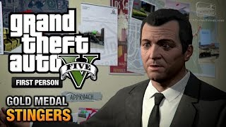 GTA 5 - Mission #73 - Planning the Big Score (Subtle) \ Stingers [First Person Gold Guide - PS4]