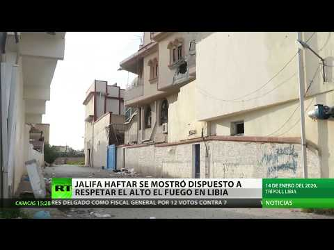 Angela Merkel apoya la decisiГn del mariscal Haftar de respetar el alto al fuego en Libia