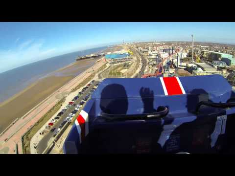 The Big One / Pepsi Max - Blackpool Pleasure Beach front seat on ride POV 2.7k