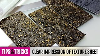 Tips&Tricks | Tip #2 How to make clear impression on polymer clay with texture sheet