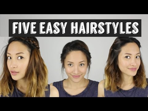 Five Quick & Easy Hairstyles | How to Style Medium Length Hair