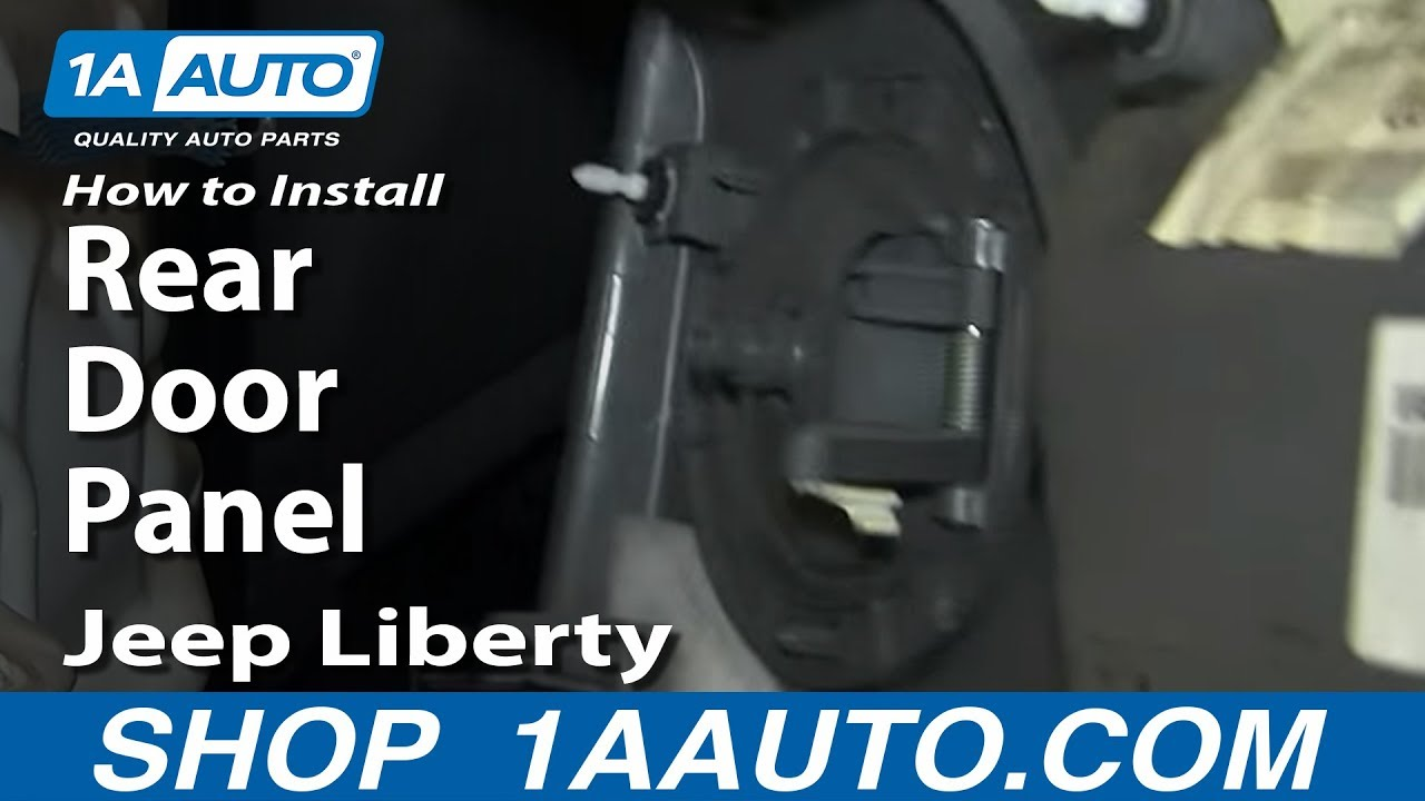 How To Install Replace Remove Rear Door Panel 2002 07 Jeep