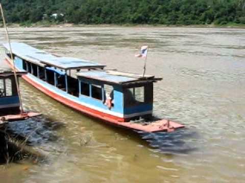 Boat on Mekong River at Luang Prabang, Laos #1