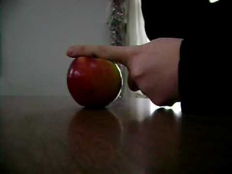 How To Break An Apple in half with your finger...AND FIST!!!!!