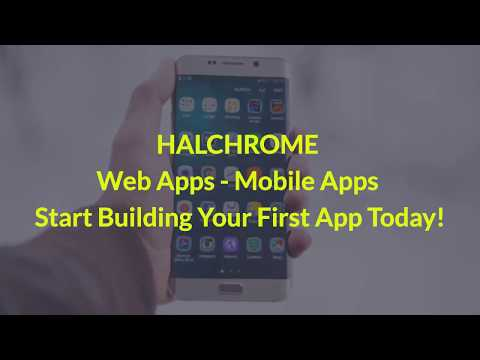 HALCHROME Mobile Apps - Build Your Own - No Coding Needed