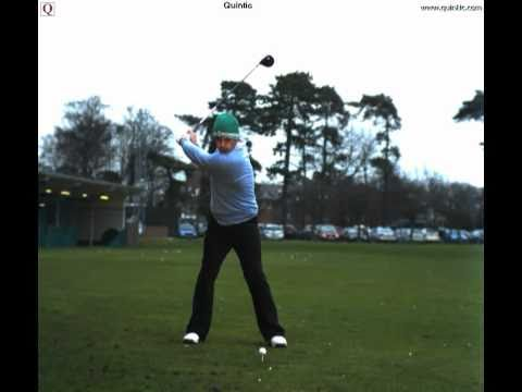 Paul McGinley hits Driver - Filmed in slow motion by Quintic Consultancy