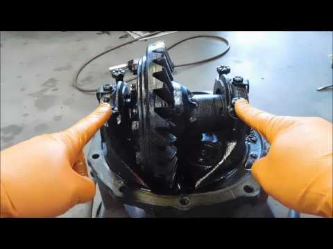 Removing a mini-spool from a Ford 9 inch differential.