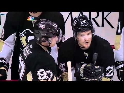 Line brawl fight. Philadelphia Flyers vs Pittsburgh Penguins 1 April 2012. NHL Hockey