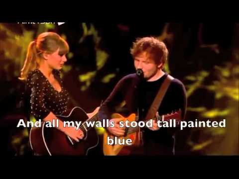 Taylor Swift & Ed Sheeran - Everything Has Changed (live + Lyrics) video