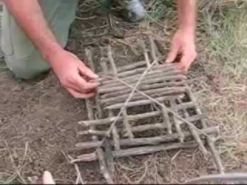 Building and setting an arapuca live bird trap