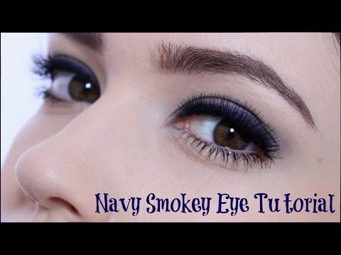 Glamorous Navy Blue Smoky Eye Makeup Tutorial