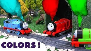 Learn Colors with Thomas & Friends Toy Trains and Play Doh Ice Cream - Kids learning video TT4U