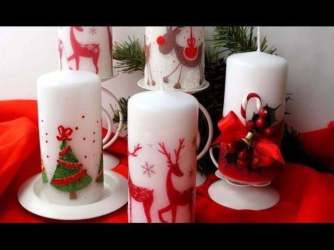 Поделки украшение свечи