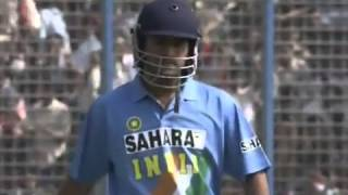MS Dhoni debut - First ball in international cricket _FAIL_ - India v Bangladesh Chittagong 2004