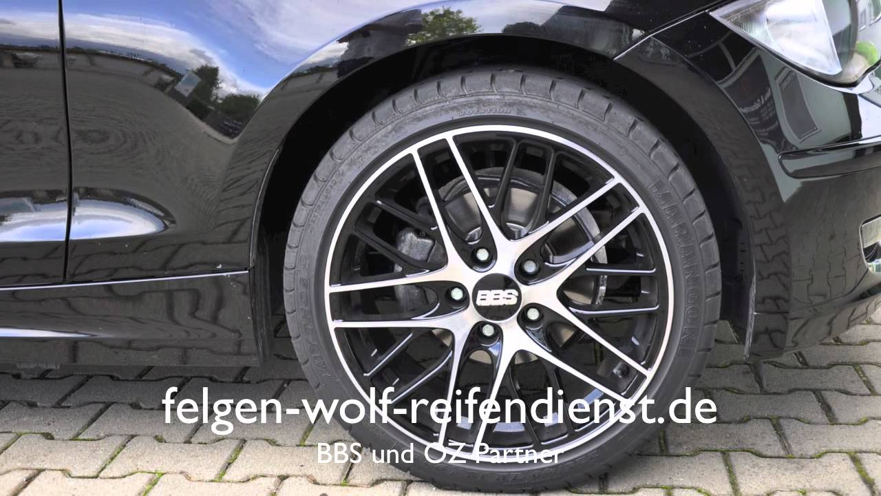 bmw 1er auf bbs cs felgen 18 zoll youtube. Black Bedroom Furniture Sets. Home Design Ideas