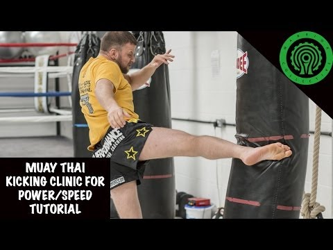 Muay Thai Kicking Clinic for Power and Speed Tutorial Image 1