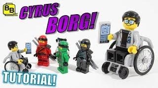 HOW TO BUILD CYRUS BORG!! LEGO NINJAGO MINIFIGURE CREATION!