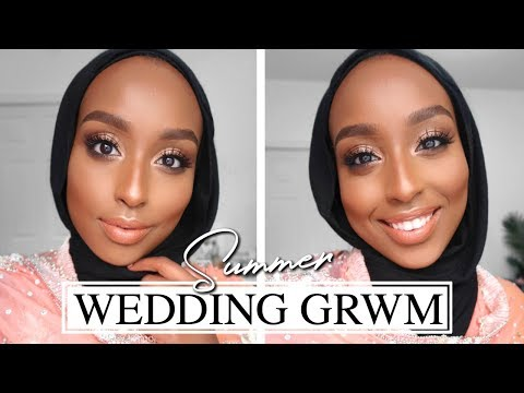 SUMMER WEDDING GRWM! | Long Wear + Sweat Proof GLAM! | Aysha Abdul