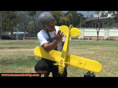 RCPlanesUK - Banana Hobby - Piper J-3 Cub Super Scale Ultimate RC Parkflyer! FLIGHT REVIEW in HD!
