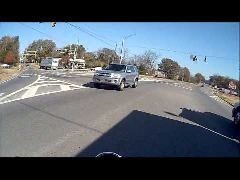 Motorcycle Near Miss... Stupid Car Driver!