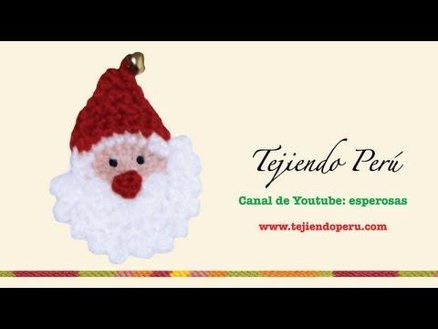 Papa Noel tejido en crochet