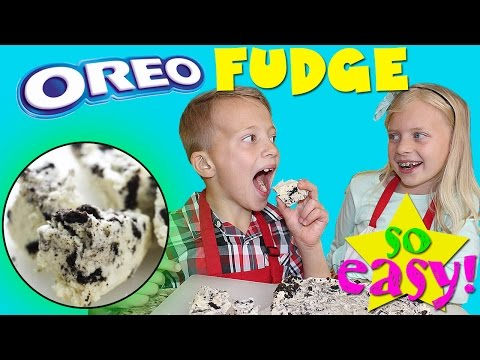 Kid Size Cooking: Oreo Cookies n Cream Fudge