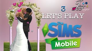 The Sims Mobile LET'S PLAY | PART 3 | THE WEDDING | 🎩💞👰🏻