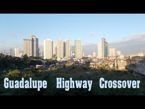 Crosswalk over EDSA Hwy in Guadalupe, Manila - Philippines