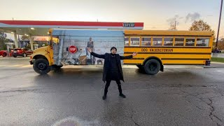 I BOUGHT A SCHOOL BUS AND PUT MY FACE & ALBUM NAME ON IT! 😂 **Not Clickbait**