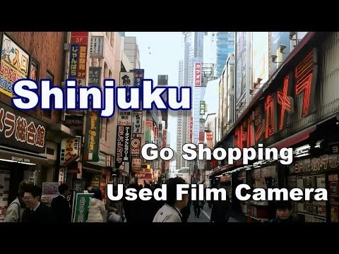 Used Film Camera Shopping in Shinjuku