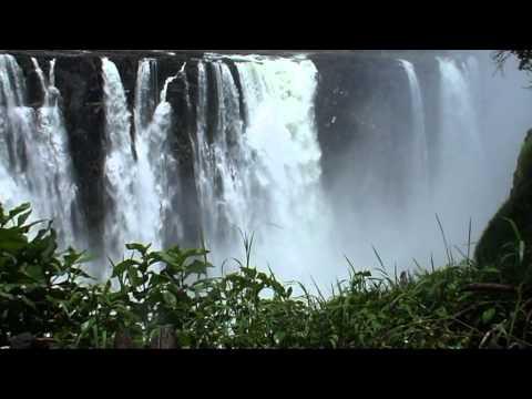 Victoriawatervallen Zimbabwe kant