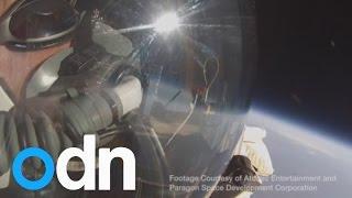 Chau Baumgartner: Rompen récord de caída libre desde la estratósfera