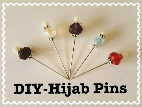 DIY - Hijab Pins | Amirah Siddique - YouTube