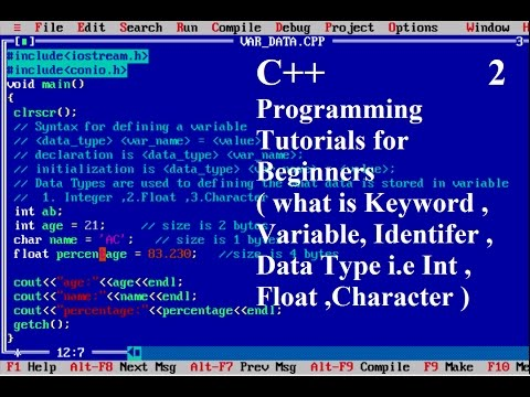 Keywords, Variables, Data Types in C++ : programming languages || Tushar Goel (Practically)