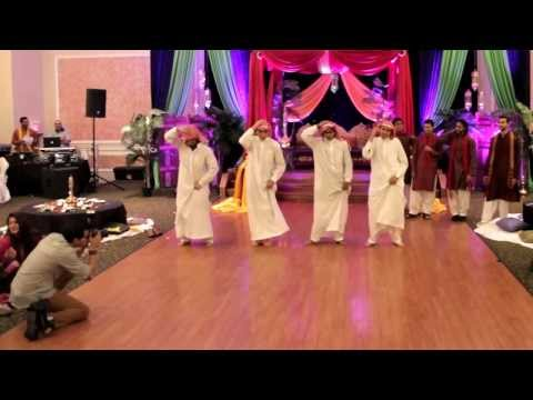 Funny Mehndi Dance - Desi Vs. Arab Skit! Pakistani Wedding Hammad + Mehar, Part 1 3 video