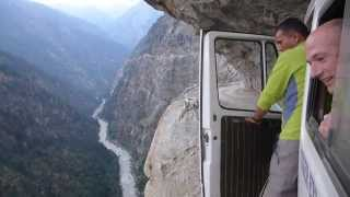 Cliffside road with free carwash