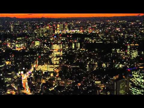 Сумерки Токио с высоты птичьего полёта