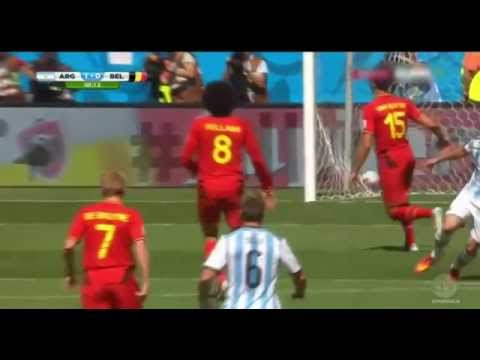 Argentina vs Belgium Higuain goal (World cup 2014) (5/7/2014) (1-0 final score)