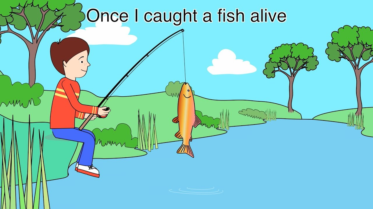 Nursery rhyme 1 2 3 4 5 once i caught a fish alive youtube for 5 3 fishing