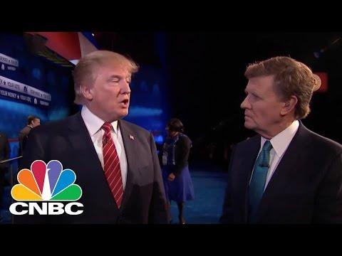Donald Trump Post Debate Interview | GOP Debate | CNBC