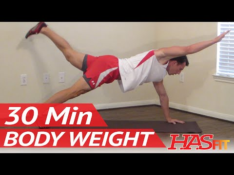 HASfit Body Weight Workout Bodyweight Exercises without Weights Free Exercise with no Equipment Image 1