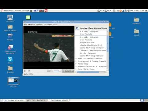 Sopcast-Player su Debian AMD64 - Player integrato