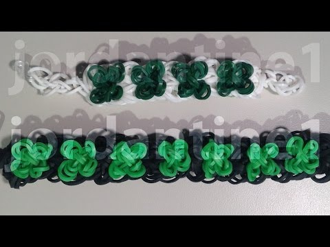 New Four Leaf Clover Bracelet - St. Patrick's Day Shamrock - Rainbow Loom - Advanced