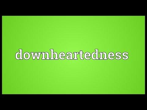 Header of downheartedness