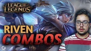 APRENDA OS COMBOS e CORTES DE ANIMAÇÕES DA RIVEN! League Of Legends 2018