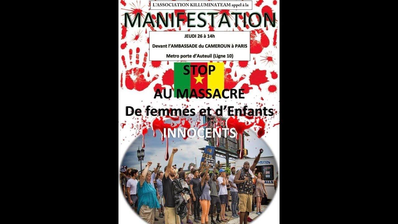 MANIFESTATION A L AMBASSADE DU CAMEROUN JEUDI 26 AVEC DIEUDONNE ?!?!