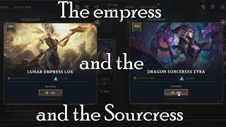 lucky my shop league of legends got Lunar Empress Lux and Dragon Sourcress Zyra